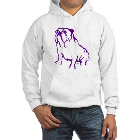 Bulldog Logo Purple Hooded Sweatshirt