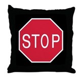 Stop Sign - Throw Pillow