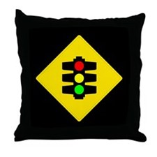 Traffic Light Sign - Throw Pillow