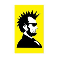 Abraham Lincoln Rocks! Rectangle Decal