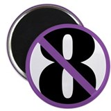 "NO ON 8 Purple 2.25"" Magnet (10 pack)"