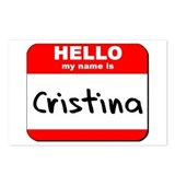 Hello my name is Cristina Postcards (Package of 8)