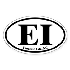 Emerald Isle EI Euro Oval Oval Decal