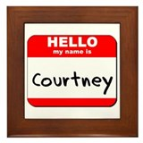 Hello my name is Courtney Framed Tile