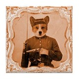 Welsh Corgi LEFTY Tile Coaster