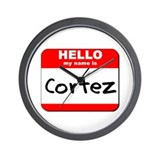 Hello my name is Cortez Wall Clock