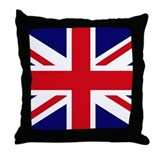 British Flag Union Jack Throw Pillow