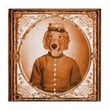 Golden BEAUREGARD Tile Coaster