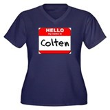 Hello my name is Colten Women's Plus Size V-Neck D