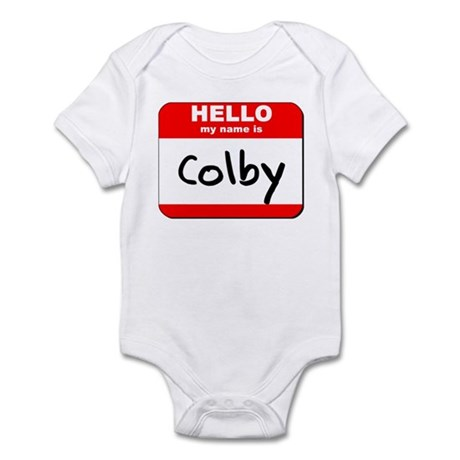 Hello my name is Colby Infant Bodysuit