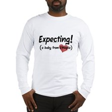 Expecting! Ethiopia adoption Long Sleeve T-Shirt