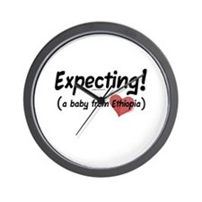 Expecting! Ethiopia adoption Wall Clock