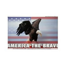 Brave America Rectangle Magnet