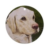 Yellow Lab Christmas Ornament (Round)
