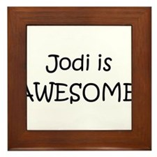 Cute Jody Framed Tile