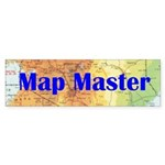 Map Master - bumper sticker