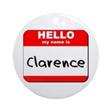 Hello my name is Clarence Ornament (Round)