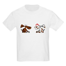Cute Black white cat valentine T-Shirt