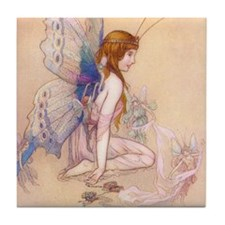 Fairies Flew In Tile Coaster