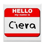 Hello my name is Ciera Tile Coaster