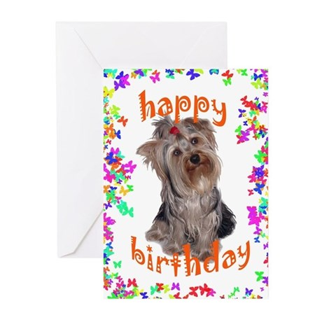 Birthday yorkie Greeting Cards (Pk of 10) by dogdaze