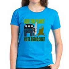 Vote Democrat Save the Earth Tee