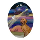 Vizsla & Christma Star Keepsake (Oval)