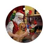 Santa's Vizsla Keepsake (Round)