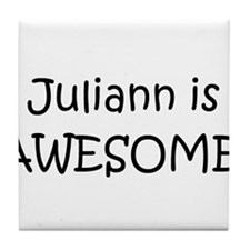 Unique I love juliann Tile Coaster