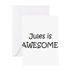 Jules name Greeting Card