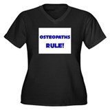 Osteopaths Rule! Women's Plus Size V-Neck Dark T-S