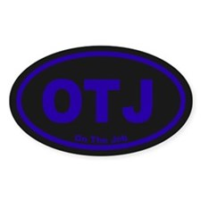 OTJ Oval Sticker (50 pk)