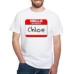 Hello my name is Chloe White T-Shirt