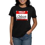 Hello my name is Chloe Women's Dark T-Shirt