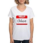 Hello my name is Chloe Women's V-Neck T-Shirt