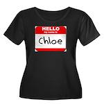 Hello my name is Chloe Women's Plus Size Scoop Nec