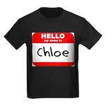 Hello my name is Chloe Kids Dark T-Shirt
