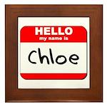 Hello my name is Chloe Framed Tile