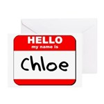 Hello my name is Chloe Greeting Cards (Pk of 20)