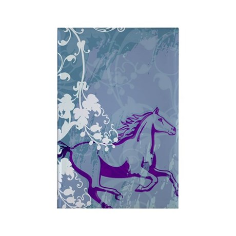 Mystic Garden Horse Rectangle Magnet