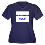 Orthodontists Rule! Women's Plus Size V-Neck Dark
