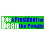 Vote Dean for the People (bumper sticker)