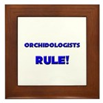 Orchidologists Rule! Framed Tile