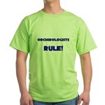 Orchidologists Rule! Green T-Shirt