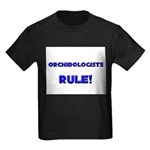 Orchidologists Rule! Kids Dark T-Shirt
