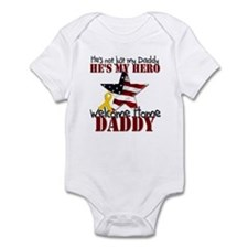 Welcome Home Daddy My Hero Infant Bodysuit