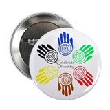 Celebrate Diversity Circle 2.25&quot; Button (10 pack)