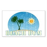 Beach Bum Rectangle Decal