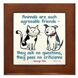 Agreeable Friends Framed Tile
