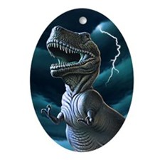 T-rex 3 Oval Ornament